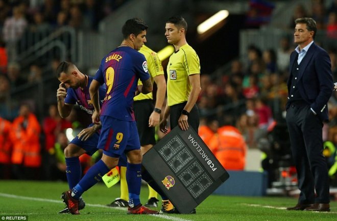 Nhưng cũng có khi cực tệ như Luis Suarez thể hiện trước Malaga.