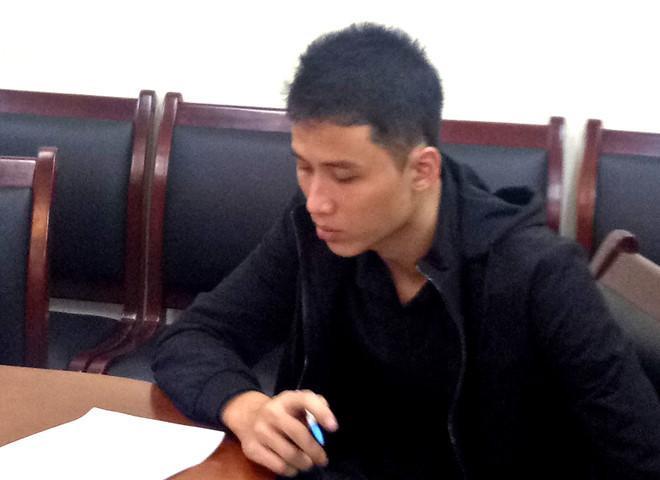 Phạm Thanh Tùng tại cơ quan điều tra. Ảnh: An ninh thủ đô