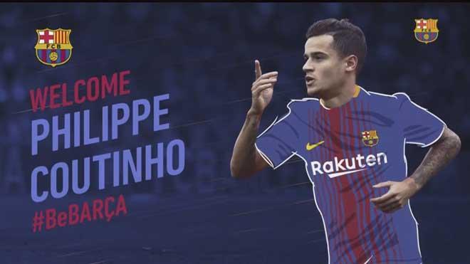 Trang chủ Barca thông báo đã có được Coutinho.
