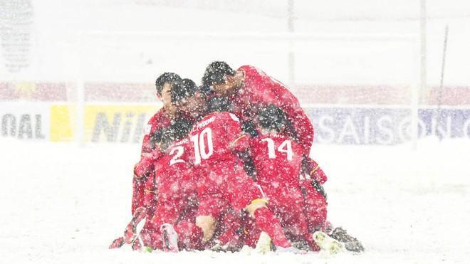 Đây là một trong những hình ảnh đẹp nhất trong trận chung kết U23 Châu Á.