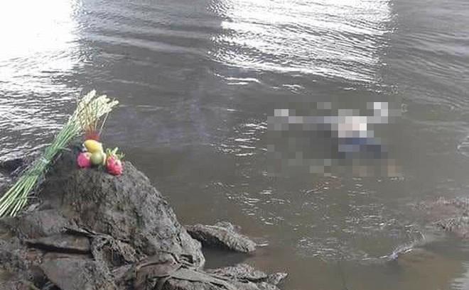 Vị trí thi thể nạn nhân Hiền được người câu cá tìm thấy.