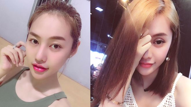 Hình ảnh trước đây và hiện tại của Linh Chi. Có thể thấy trước đây Linh Chi sở hữu đôi mắt một mí lót nhưng hài hòa với tổng thể gương mặt.