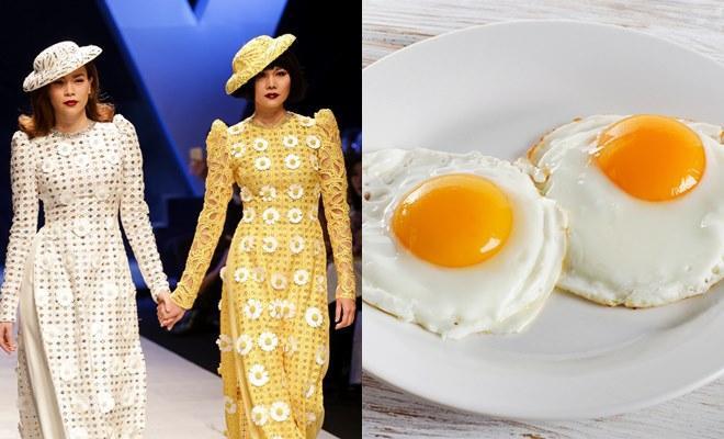 """Hai """"chị đại"""" Hà Hồ và Thanh Hằng được cư dân mạng hài hước ghép với ảnh món điểm tâm trứng ốp la khoái khẩu, thật đói bụng phải không nào?"""