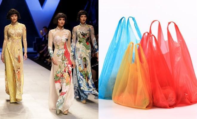 Top 3 Hoa hậu hoàn vũ Việt Nam cũng được liên tưởng đến những chiếc túi xốp màu sắc thú vị.