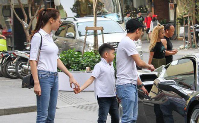 Đàm Thu Trang và Subeo khá thân thiết.
