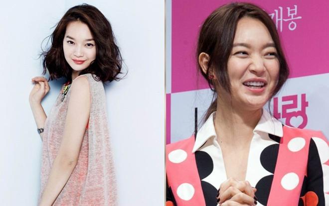 """Nàng """"cáo chín đuôi"""" Shin Min Ah mất đi nhiều thần thái khi nở nụ cười hết cỡ để lộ nếp nhăn."""