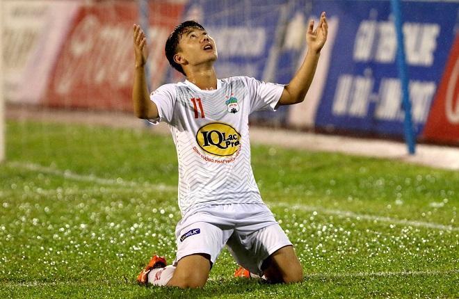 Minh Vương trở thành ngòi nổ của Hoàng Anh Gia Lai tại V-League. Ảnh: Kenh14.
