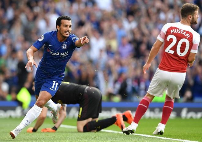 Pedro mở tỉ số trận đấu từ rất sớm. Ảnh: Chelseafc.com.