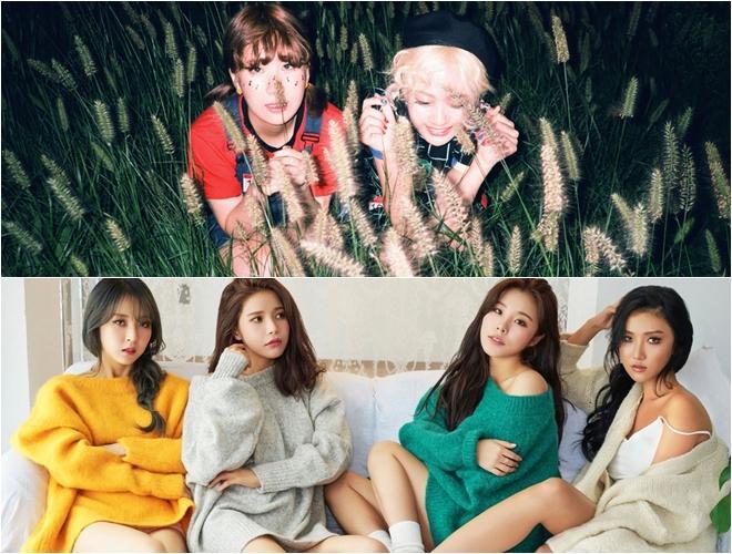Các nghệ sĩ nữ được fan Hàn ưu ái hơn nhiều.