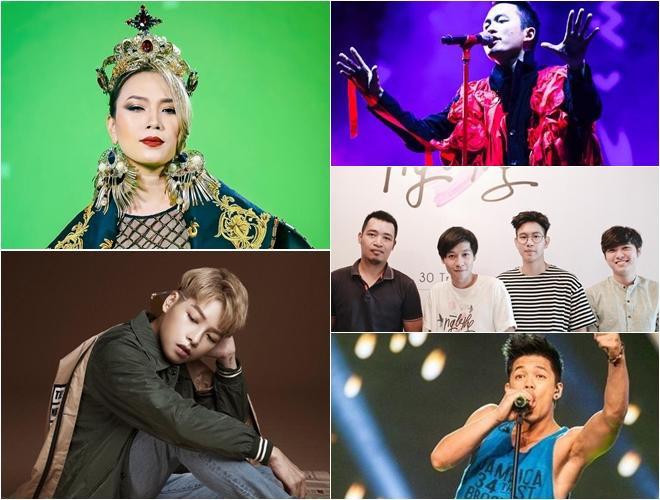 5 nghệ sĩ - nhóm nhạc được đề cử tại VTV Awards 2018.