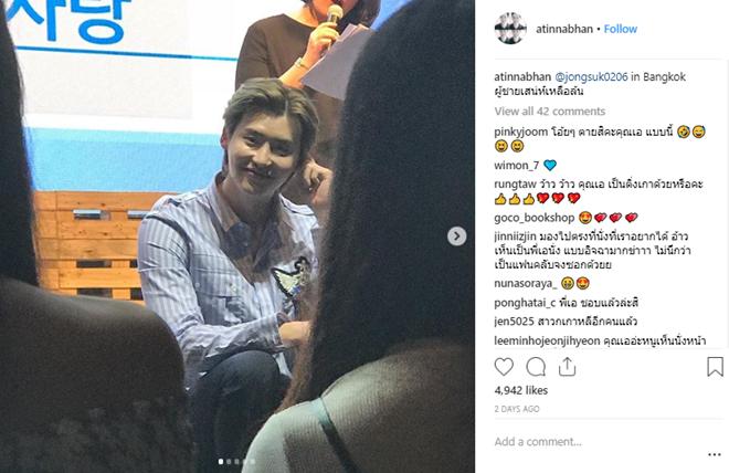 Loạt ảnh Lee Jong Suk được đăng tải trên Instagram của fan cuồng Khun Ae.