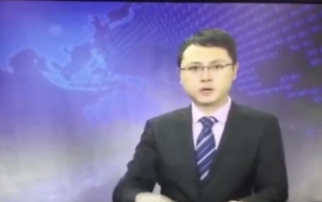Người dẫn tin tứcHe Kunyu.