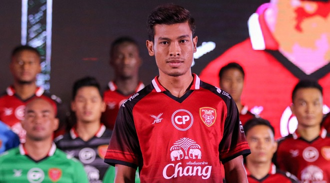 Aung Thu trở thành một trong số những chân sút hàng đầu Thai League.