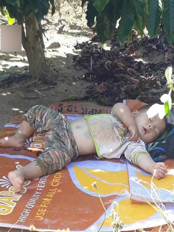 Nhìn khuôn mặt bụ bẫm của bé đang ngủ lăn lóc khiến ai cũng thấy đáng yêu.