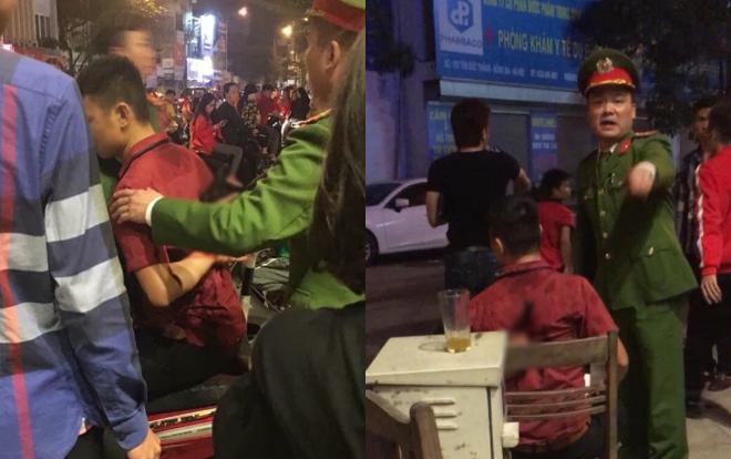 Lực lượng công an có mặt đưa nạn nhân đi cấp cứu..