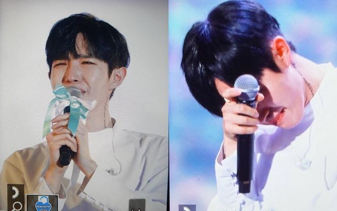 Jaehwan cũng đã khóc thật nhiều trên sân khấu cuối cùng.