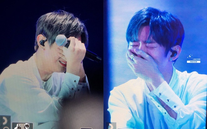 Leader Jisung đã khóc rất nhiều.