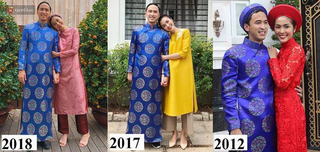 Đã 7 năm trôi qua, nhưng Louis Nguyễn vẫn mãi trung thành cùng chiếc áo dài này, và khi đặt kề cận những bức ảnh này với nhau, càng thấy được sự trẻ trung, không tuổi của Tăng Thanh Hà.