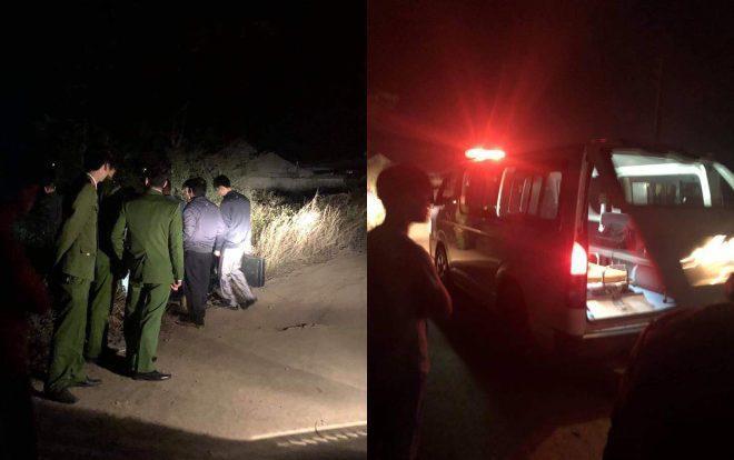 Lực lượng chức năng khám nghiệm hiện trường nơi phát hiện thi thể nạn nhân.