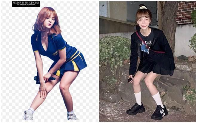 Jimin trước và sau khi giảm cân.
