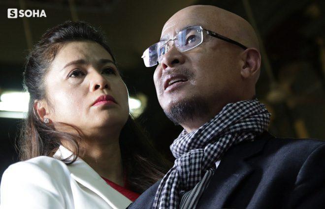 Bà Lê Hoàng Diệp Thảo cùng ông Đặng Lê Nguyên Vũ tại phiên tòa