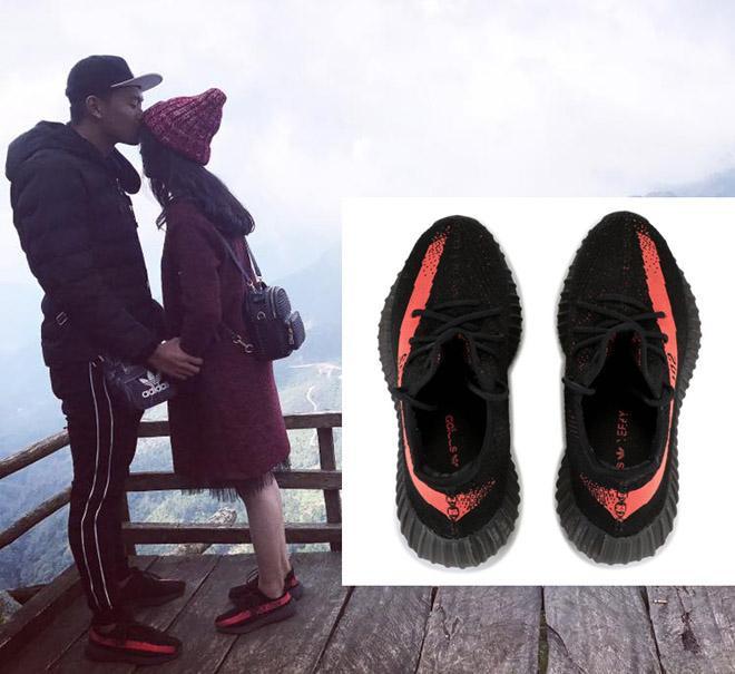 """Thành Chung là cầu thủ thứ 2 đá thủng lưới Brunei. Anh chàng cũng sở hữu cho mình một đôi sneaker """"hot trend"""" từng khiến giới mộ điệu """"dậy sóng"""" là Yeezy có giá bán lẻ khoảng 1.100 $ (hơn 24 triệu đồng)."""
