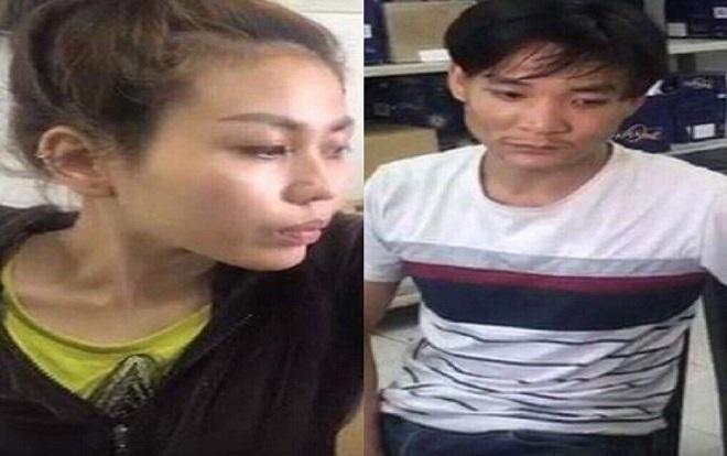 Hai đối tượng Xuân Anh Đào và Bùi Đình Tân tại cơ quan điều tra.