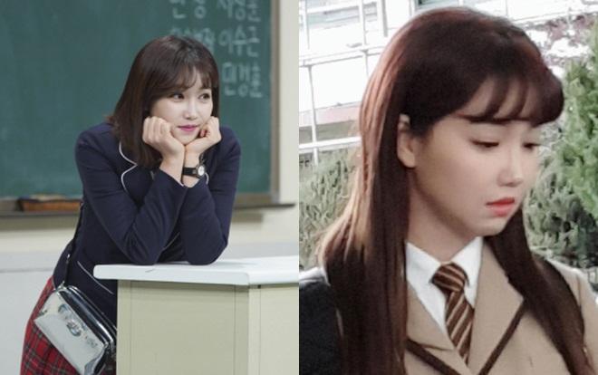 """""""Ác nữ quốc dân"""" Lee Yoo Ri năm nay đã 39 tuổi. Cô ấy vẫn trẻ xinh trong chương trình """"Knowing Brothers"""" và cảnh quay mặc trang phục học sinh trong phim """"Hai lần thanh xuân"""" đài MBC lên sóng vào năm nay."""