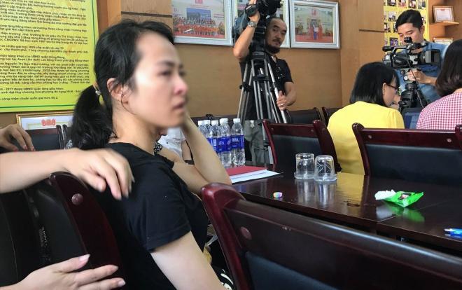 Cô Trang xin lỗi gia đình em Đ., các ban ngành vì đã làm ảnh hưởng tới hình ảnh ngành giáo dục.