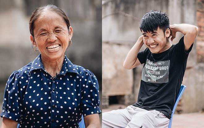 Bà Tân và con trai Nguyễn Văn Hưng.