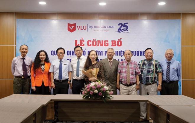 Lễ công bố bổ nhiệm ông Trương Nguyện Thành giữ chức Phó hiệu trưởng trường Đại học Văn Lang. Ảnh: Đại học Văn Lang