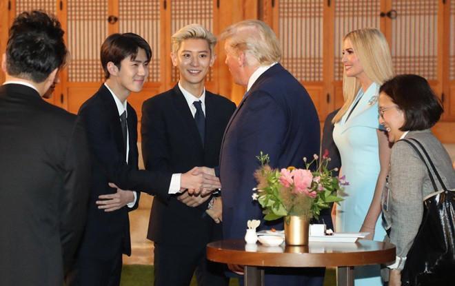 Tổng thống Trump nói gì khi lần đầu gặp Suho (EXO)? ảnh 0