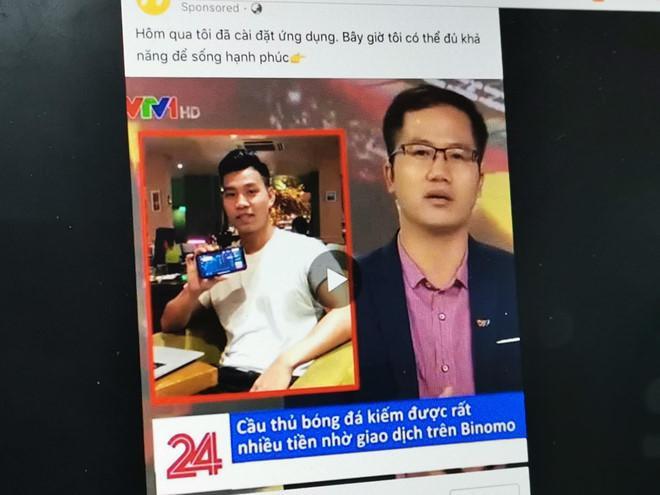 Để tăng độ tin cậy cho mẩu quảng cáo, Binomo còn thiết kế giao diện truyền hình quốc gia kèm thông điệp về ứng dụng của công ty. Nội dung này sau đó được mua quảng cáo trên nhiều nền tảng, trong đó có Facebook.