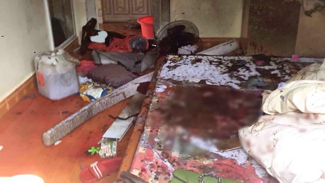 Hiện trường vụ đối tượng đâm trọng thương người phụ nữ rồi phóng hỏa khiến 5 người thương vong. (Ảnh: Thanh Niên).