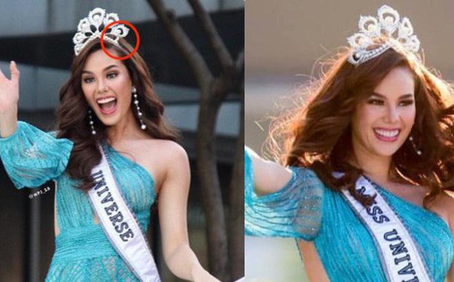 """Hoa hậu Hoàn vũ 2018 Catriona Gray đã khiến người hâm mộ """"rớt tim"""" vì làm vỡ và rơi luôn một phần vương miện đắt giá ngay tại lễ diễu hành."""