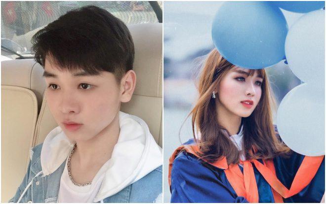 Cao Thanh Tùng khi là một cậu con trai (bên trái) và khi giả gái (bên phải).