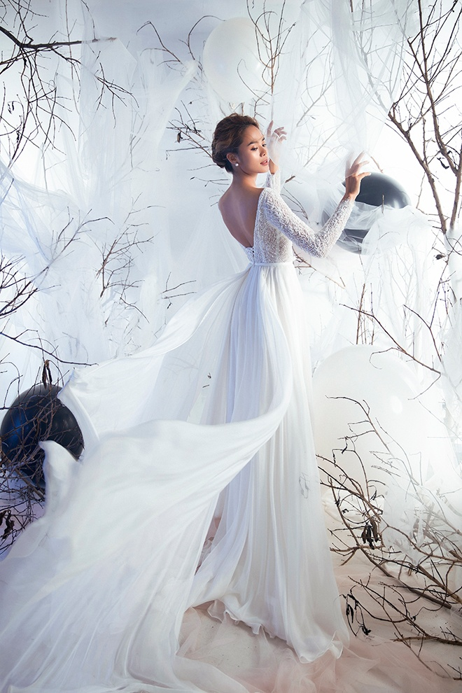 Mẫu váy cưới này là gợi ý tuyệt vời cho tiệc cưới ngoài trời