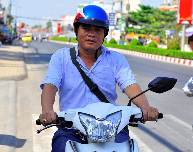 """""""Hiệp sĩ"""" đường phố Nguyễn Thanh Hải. Ảnh: Zing.vn."""