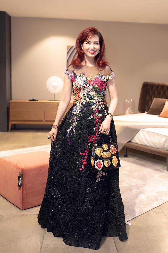 Hoa hậu Diệu Hoa lộng lẫy với đầm đen