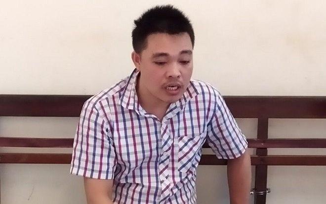 Nguyễn Đức Tuân tại cơ quan công an.