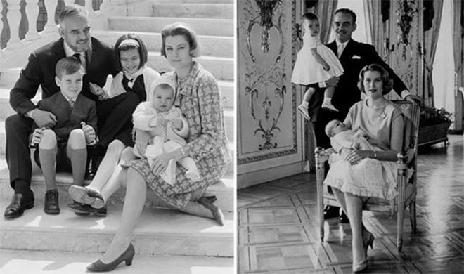 Công nương Grace đã có quãng thời gian hạnh phúc bên chồng và ba người con.