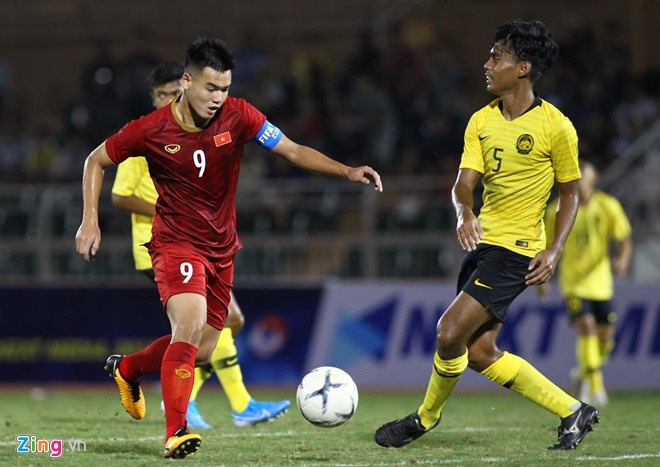 U18 Việt Nam ghi bàn ở những phút cuối. ( Ảnh: Zing)