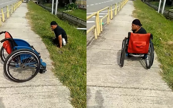 Hành động rất anh hùng này đã được ghi lại bởi một người bạn của anh ta– cũng là người khuyết tật.