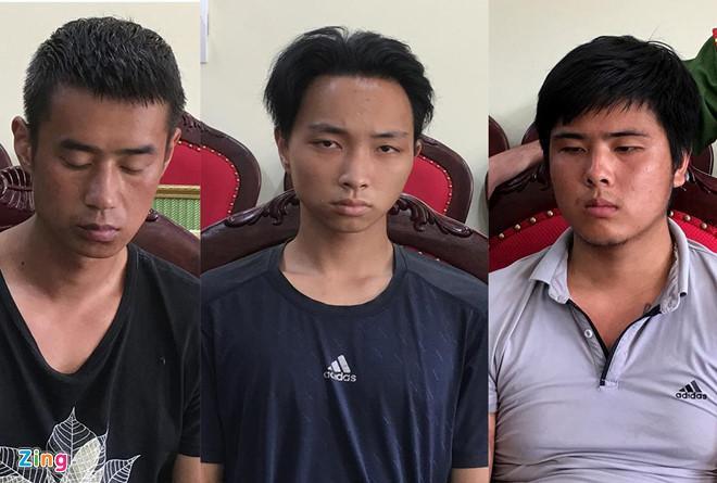 Ba nghi phạm giết tài xế taxi để cướp tài sản. (Ảnh: Zing.vn)