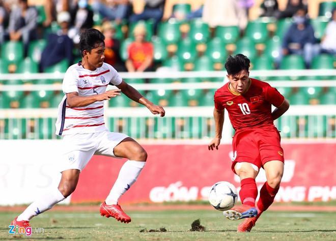 U18 Việt Nam thất bại trước Campuchia ( Ảnh: Zing.vn)