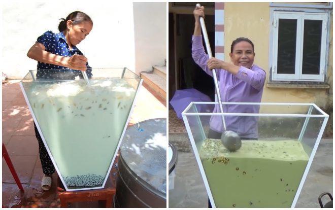 Hình ảnh bà Tân vlog cùng bà Tâm vlog được cư dân mạng đem ra so sánh.