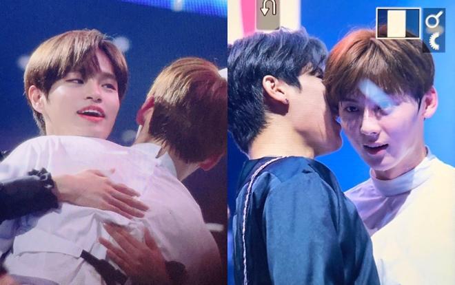 Khoảnh khắcMinhyun, Woojin, Daehwi hội ngộ tại sân khấu KCON LA.