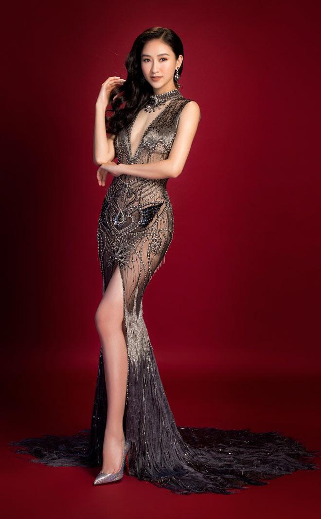 Hà Thu - Top 8 Miss Earth 2017 sẽ là đối thủ đáng gờm cho nhiều cô gái nếu tham gia Hoa hậu Hoàn vũ Việt Nam 2019.