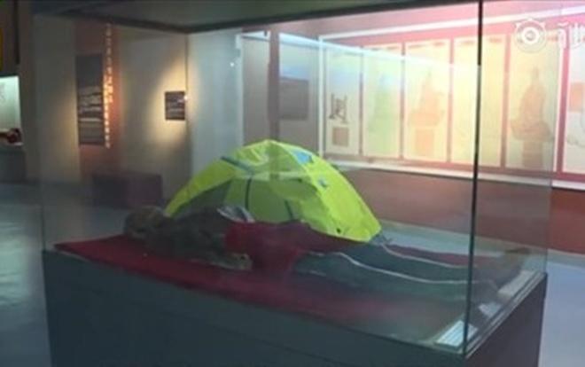 Trải nghiệm ngủ qua đêm gần xác ướp và xương khủng long trong bảo tàng không dành cho người yếu tim. Ảnh: Pear Video