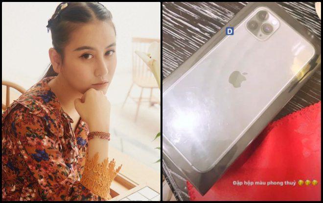 Vốn là người tin vào phong thuỷ, nên chiếc iPhone 11 mới cứng của Hà Lade cũng phải có màu phong thuỷ.
